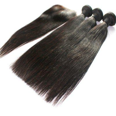 Straight 100 Percent Indian Human Virgin Hair Weave 3pcs with 1pc Lace ClosureHair Weaves<br>Straight 100 Percent Indian Human Virgin Hair Weave 3pcs with 1pc Lace Closure<br><br>Chemical Processing: None<br>Color: Natural Black<br>Color Type: Pure Color<br>Hair Grade: 6A+ 100% Unprocessed Virgin Hair<br>Hair Quality: Virgin Hair<br>Hair Weft: Machine Double Weft<br>Material: Human Hair<br>Package Contents(pcs): 3 x Hair Weave, 1 x Lace Closure<br>Package size (L x W x H): 20.00 x 10.00 x 5.00 cm / 7.87 x 3.94 x 1.97 inches<br>Package weight: 0.4000 kg<br>Part Design: Middle Part<br>Source: Indian Hair<br>Style: Straight<br>Type: Human Hair Weaves