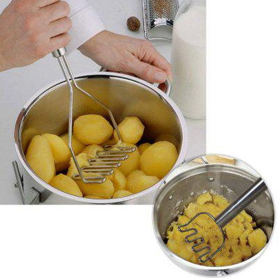 Kitchen Tools Fruit Vegetable Masher Pressure Mashed Potatoes MasherOther Kitchen Accessories<br>Kitchen Tools Fruit Vegetable Masher Pressure Mashed Potatoes Masher<br><br>Material: Stainless Steel<br>Package Contents: 1 x Potato Musher<br>Package size (L x W x H): 29.00 x 17.00 x 13.00 cm / 11.42 x 6.69 x 5.12 inches<br>Package weight: 0.1000 kg<br>Product size (L x W x H): 25.00 x 9.50 x 4.50 cm / 9.84 x 3.74 x 1.77 inches<br>Product weight: 0.0900 kg<br>Type: Other Kitchen Accessories