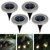 BRELONG 4LED Solar Buried Lights Outdoor Lawn Lamp 4PCS - WHITE LIGHT