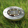 BRELONG 8LED Solar Buried Lights Outdoor Lawn Lamp 4PCS - WHITE LIGHT