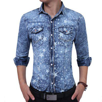 Stamp Denim Youth Tide Floral Shirt