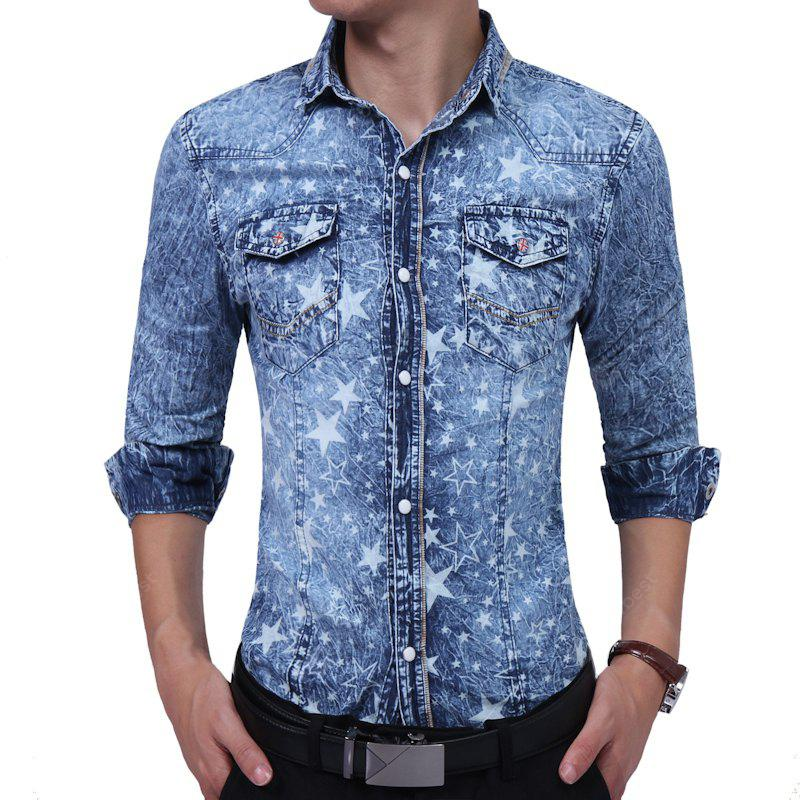 Estampado Floral Denim Youth Tide Floral Shirt
