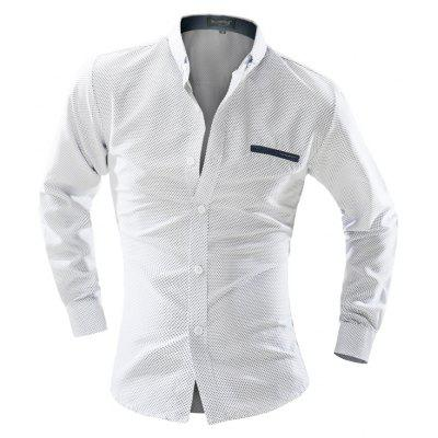 Business Leisure Round Point Long Sleeved Shirt