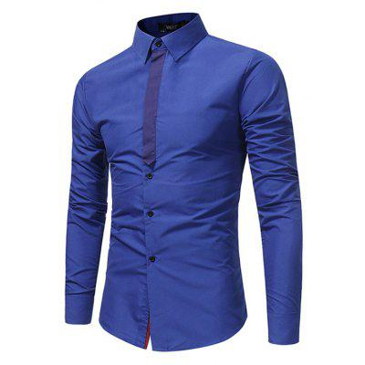 Splicing Business Youth Casual Shirts