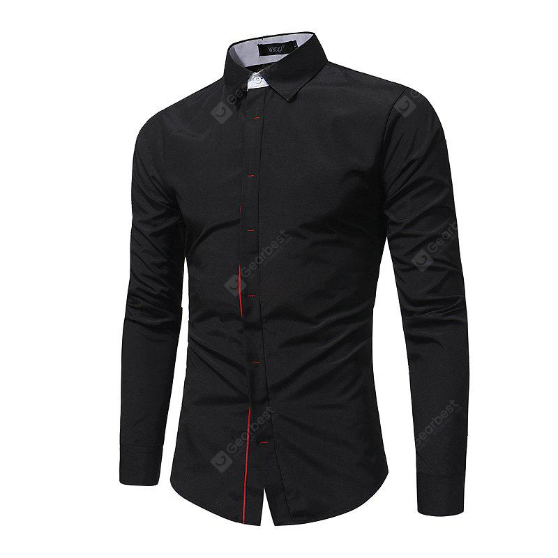 Botón de color Slim Fashion Business Shirt