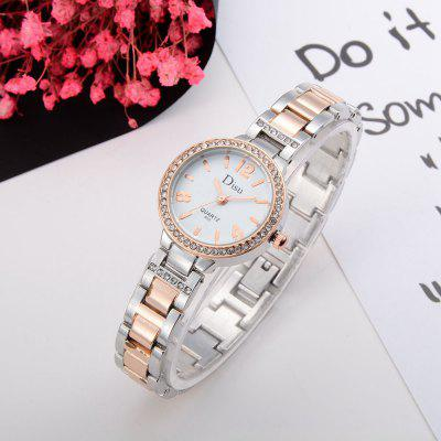 DS024 Women Diamond Bezel Alloy Bracelet Wrist WatchWomens Watches<br>DS024 Women Diamond Bezel Alloy Bracelet Wrist Watch<br><br>Band material: Zinc Alloy<br>Band size: 19.4 x 1.2 CM<br>Case material: Alloy<br>Clasp type: Sheet folding clasp<br>Dial size: 2.7 x 2.7 x 0.7 CM<br>Display type: Analog<br>Movement type: Quartz watch<br>Package Contents: 1 x Watch<br>Package size (L x W x H): 20.00 x 4.00 x 1.00 cm / 7.87 x 1.57 x 0.39 inches<br>Package weight: 0.0470 kg<br>Product size (L x W x H): 19.40 x 2.70 x 0.70 cm / 7.64 x 1.06 x 0.28 inches<br>Product weight: 0.0450 kg<br>Shape of the dial: Round<br>Special features: Day<br>Watch mirror: Mineral glass<br>Watch style: Fashion, Business, Retro, Lovely, Wristband Style, Jewellery, Casual<br>Watches categories: Women,Female table<br>Water resistance: No