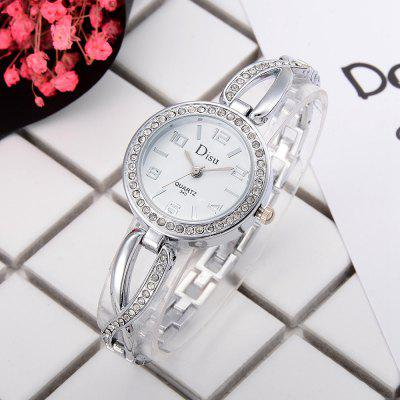DS028 Women Arabic Numbers Analog Quartz Wrist Watch with DiamondWomens Watches<br>DS028 Women Arabic Numbers Analog Quartz Wrist Watch with Diamond<br><br>Band material: Zinc Alloy<br>Band size: 19 x 1 CM<br>Case material: Alloy<br>Clasp type: Sheet folding clasp<br>Dial size: 2.9 x 2.9 x 0.7 CM<br>Display type: Analog<br>Movement type: Quartz watch<br>Package Contents: 1 x Watch<br>Package size (L x W x H): 20.00 x 4.00 x 1.00 cm / 7.87 x 1.57 x 0.39 inches<br>Package weight: 0.0300 kg<br>Product size (L x W x H): 19.00 x 2.90 x 0.70 cm / 7.48 x 1.14 x 0.28 inches<br>Product weight: 0.0280 kg<br>Shape of the dial: Round<br>Special features: Day<br>Watch mirror: Mineral glass<br>Watch style: Fashion, Business, Retro, Lovely, Wristband Style, Jewellery, Casual<br>Watches categories: Women,Female table<br>Water resistance: No