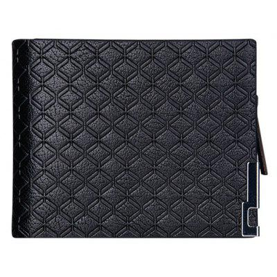 Carteira para homens Multi-Card Purse Business Short Paragraph Check Cross-Section Zipper
