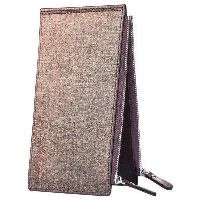 New Card Wallet Men's Mobile Bag Ultra-Thin Double Zip