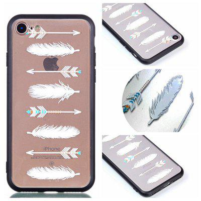 Cover Case per iPhone 8 Relievo Arrow Feathers Soft Shell TPU Mobile Smartphone Shell