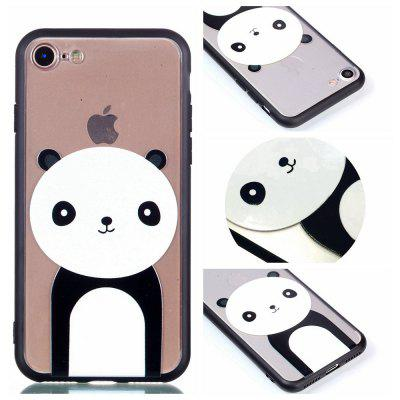 Custodia Cover per Iphone 8 Relievo Giant Panda Cover TPU morbida per smartphone Cover per smartphone