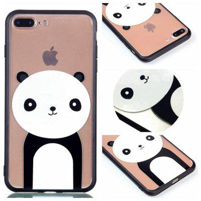 Custodia Cover per Iphone 8 Plus Custodia a conchiglia per smartphone Relievo Giant Panda Soft Clear TPU