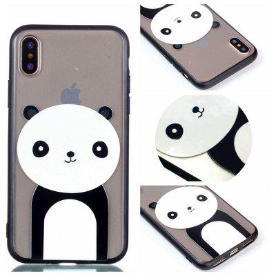 Cover Case for Iphone X Relievo Giant Panda Soft Clear TPU Mobile Smartphone Cover Shell Case