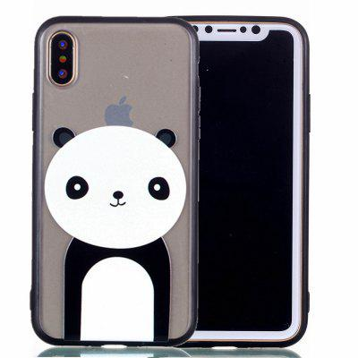 Cover Case for Iphone X Relievo Giant Panda Soft Clear TPU Mobile Smartphone Cover Shell Case велосипед forward spike 1 0 disc 2014 рама 16 черный матовый rbkw4s66q007
