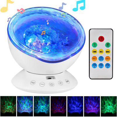 AGM LED Night Light Ocean Wave Projector Starry Sky Cosmos Star Lamp Luminaria Aurora Novelty Baby Nightlight Gift