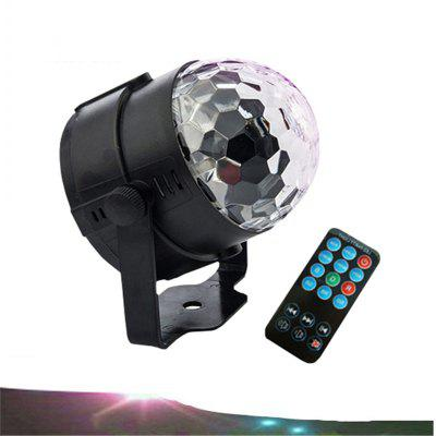 LED Remote Control Small Magic Ball AC110-240V 3W Voice Control Rotating Colorful KTV Flash Stage Light