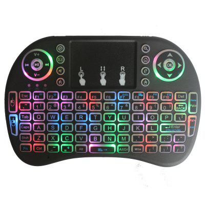 2018 New Colorful Backlight Cool I8 Wireless Keyboard Air Mouse 2.4G WiFi Ultra Remote Control