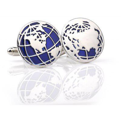 Fashion Map Map French Shirt Cufflinks