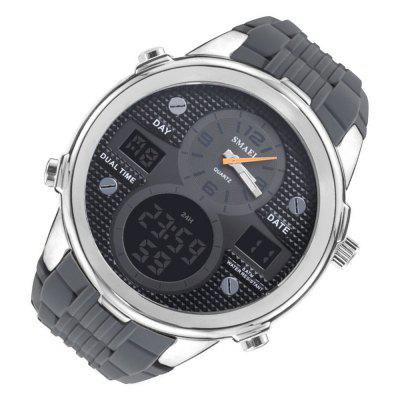 SMAEL 1273 Multi-function Stainless Steel Waterproof Sport WatchMens Watches<br>SMAEL 1273 Multi-function Stainless Steel Waterproof Sport Watch<br><br>Band material: Silicone<br>Band size: 24 x 2.4cm<br>Brand: SMAEL<br>Case material: Zinc Alloy<br>Clasp type: Pin buckle<br>Dial size: 5.3 x 5.3 x 1.7cm<br>Display type: Analog-Digital<br>Movement type: Quartz + digital watch<br>Package Contents: 1 x Watch, 1 x Box<br>Package size (L x W x H): 7.50 x 7.50 x 8.00 cm / 2.95 x 2.95 x 3.15 inches<br>Package weight: 0.1400 kg<br>Product size (L x W x H): 24.00 x 5.30 x 1.70 cm / 9.45 x 2.09 x 0.67 inches<br>Product weight: 0.0700 kg<br>Shape of the dial: Round<br>Special features: Date, Alarm Clock<br>Watch style: Fashion, Outdoor Sports, Casual, Business<br>Watches categories: Men