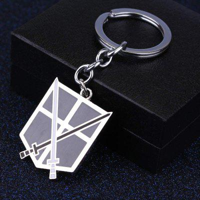 Two Swords Metal Decoration Key Chain for Anime FansKey Chains<br>Two Swords Metal Decoration Key Chain for Anime Fans<br><br>Design Style: Non-mainstream<br>Gender: Boys,Girls<br>Materials: Zinc Alloy<br>Package Contents: 1 x Key Ring<br>Package size: 5.00 x 5.00 x 5.00 cm / 1.97 x 1.97 x 1.97 inches<br>Package weight: 0.0200 kg<br>Stem From: Europe and America<br>Theme: Military,Movie and TV