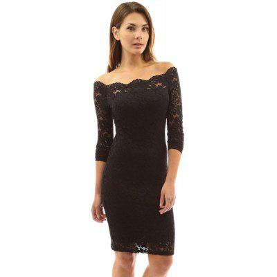 Long Sleeved Package Hip Lace DressMini Dresses<br>Long Sleeved Package Hip Lace Dress<br><br>Dresses Length: Knee-Length<br>Elasticity: Micro-elastic<br>Embellishment: Backless<br>Fabric Type: Cotton Blends<br>Material: Nylon, Spandex<br>Neckline: Slash Neck<br>Package Contents: 1 x Dress<br>Pattern Type: Others<br>Season: Spring, Fall, Summer<br>Silhouette: Sheath<br>Sleeve Length: 3/4 Length Sleeves<br>Style: Fashion<br>Waist: Natural<br>Weight: 0.3800kg<br>With Belt: No