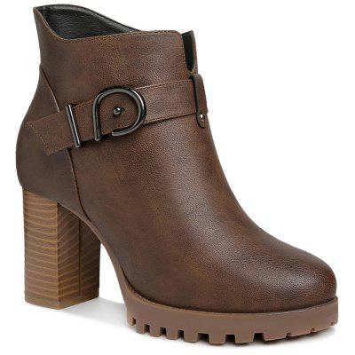 Female Thick and Waterproof Platform with Velvet Martin Boots