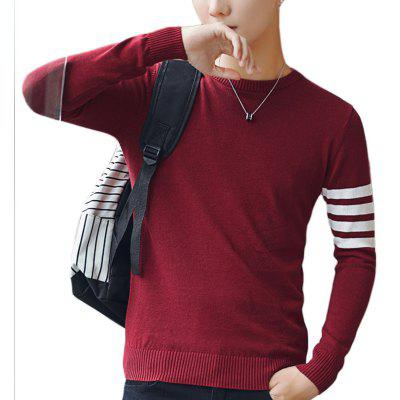 Men's Thin Sleeved Striped Sweater