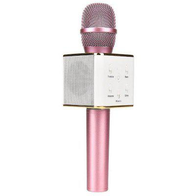 Portable Wireless Karaoke KTV Microphone Mic Handheld Condenser Microphone with Wireless Bluetooth Speaker Singing Stere