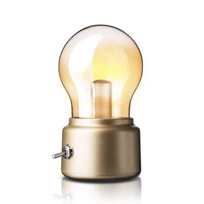 Retro Toggle Switch LED Small Night Light Mini Usb Charging