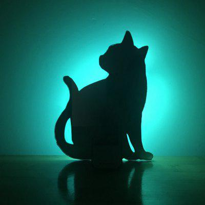 Colorful Remote  Cat Shadow Projection Lamp LED  Night Light