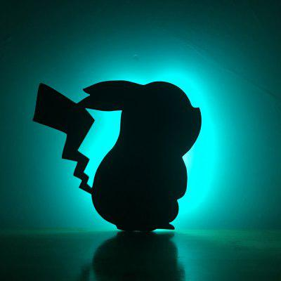 Colorful Remote Pikachu Shadow Projection Lamp LED  Night Light