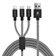 Triple Data Cable for Apple / Android / Type-C