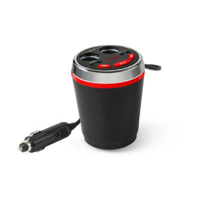 Dual USB Car Charger, Dual Cigartee Lighter Splitter with Bluetooth Pair with Smart Phones for Play Music/Call/Charging