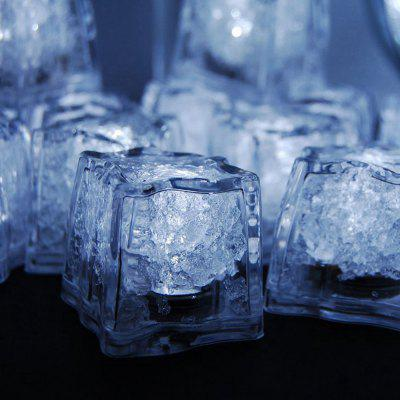 12pcs LED Ice Cube Square para banquete de casamento Bar Club Champagne Tower Holiday Decorat