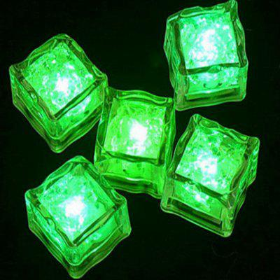 12pcs LED Ice Cube Square para el banquete de boda Club Club Champagne Tower Holiday Decorat