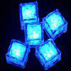 12pcs LED Ice Cube Square para banquete de casamento Bar Club Champagne Tower Holiday Decorat - AZUL