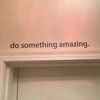 Inspirational Quote Decal Do Something Amazing Over The Door Vinyl Wall Decal Sticker Art
