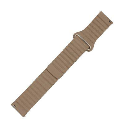 22MM Leather Watchband Magnetic Clasp Strap for Pebble Time / Pebble Time Steel