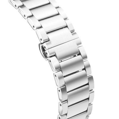 Premium Stainless Steel Glossy Replacement Smart Watch Strap with Butterfly Clasp for Pebble Time / Pebble Time Steel