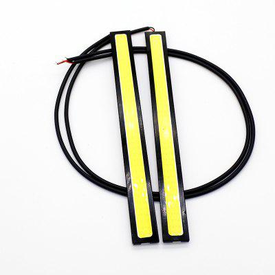 2PCS  Waterproof COB Strip Xenon White LED 14CM DRL Fog Driving Lamp 12V