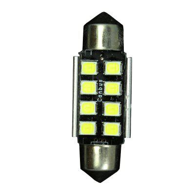 10PCS Canbus Error Free 36mm 2835 8SMD Festoon LED 12V Interior Light bulb c5w 2pcs 12v 31mm 36mm 39mm 41mm canbus led auto festoon light error free interior doom lamp car styling for volvo bmw audi benz