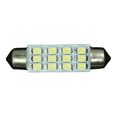 20PCS Super White 3528 41MM 12SMD Dome Festoon Backup Interior LED light bulbs
