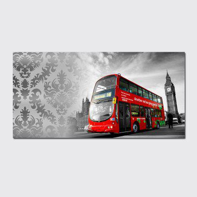 QiaoJiaHuaYuan No Frame Canvas Living Room Sofa Background Decoration Hanging Painting City Bus   Painting.
