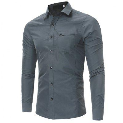 2018 Autumn and Winter New Single Pocket Men Casual Slim Long-Sleeved Large Size ShirtMens Shirts<br>2018 Autumn and Winter New Single Pocket Men Casual Slim Long-Sleeved Large Size Shirt<br><br>Collar: Turn-down Collar<br>Material: Cotton, Polyester<br>Package Contents: 1xshirt<br>Shirts Type: Tuxedo Shirts<br>Sleeve Length: Full<br>Weight: 0.2500kg