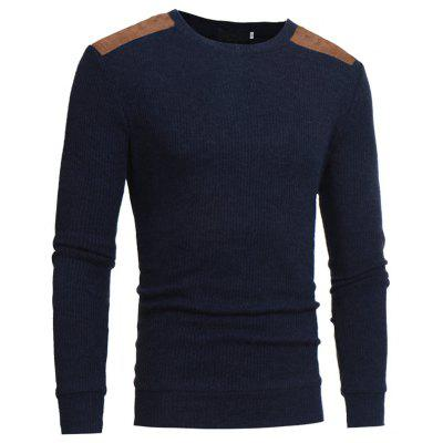 2018 Autumn and Winter New Suede Patch Cloth Design Men Round Neck Casual Slim Knit SweaterMens Sweaters &amp; Cardigans<br>2018 Autumn and Winter New Suede Patch Cloth Design Men Round Neck Casual Slim Knit Sweater<br><br>Collar: Round Collar<br>Material: Cotton, Cashmere, Polyester<br>Package Contents: 1xsweater<br>Package size (L x W x H): 1.00 x 1.00 x 1.00 cm / 0.39 x 0.39 x 0.39 inches<br>Package weight: 0.3500 kg<br>Size1: M,L,XL,2XL,3XL<br>Sleeve Length: Full<br>Type: Pullovers