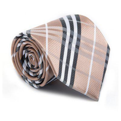 New Fashion Men Tie Classical Business Striped Color Block Comfy Necktie