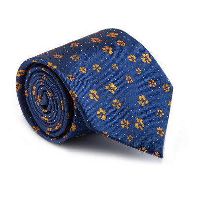 New Fashion Fine Men Tie Floral Pattern Simple Style Casual Ventilate Necktie Accessory