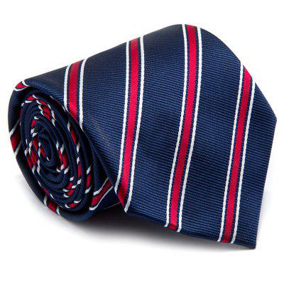 Men Tie Striped Patchwork Color Block Classical Necktie Accessory