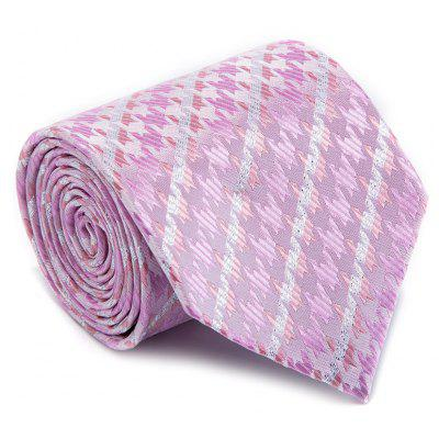New Fashion Fine Men Tie Faddish Simple Unique Houndstooth Design Comforty Business Necktie Accessory