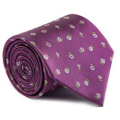 New Fashion Fine Men Tie Faddish Unique Embroidered Floral Pattern Design Comforty Business Necktie Accessory
